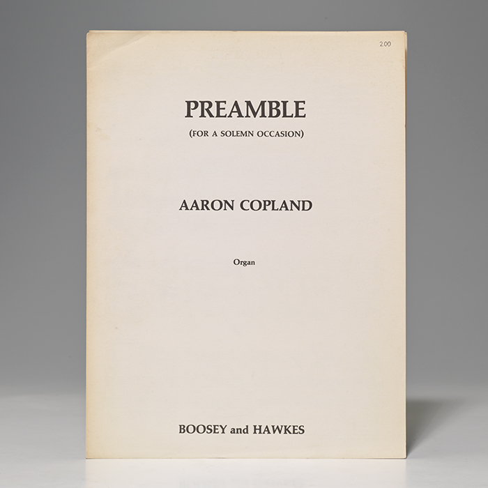 Preamble (For a Solemn Occasion)