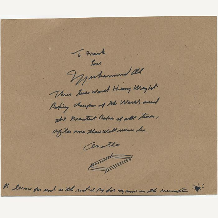 Autograph letter signed