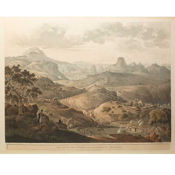 View Near the Village of Asceriah, in Abyssinia. FROM: Twenty-Four Views Taken in St. Helena, the Cape, India