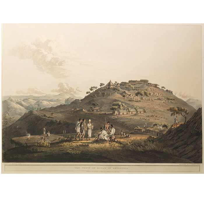 Town of Dixan in Abyssinia. FROM: Twenty-Four Views Taken in St. Helena, the Cape, India