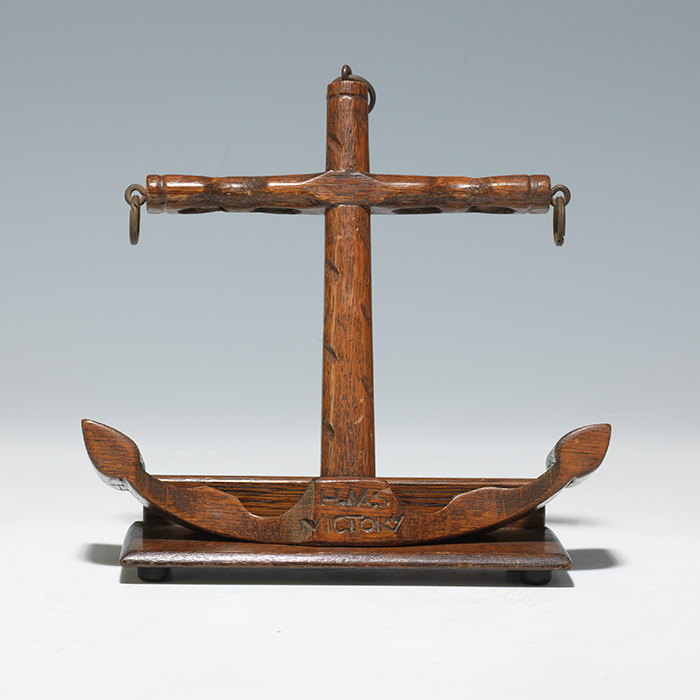 Oak Pipe Rack Carved from H.M.S. VictoryTimbers