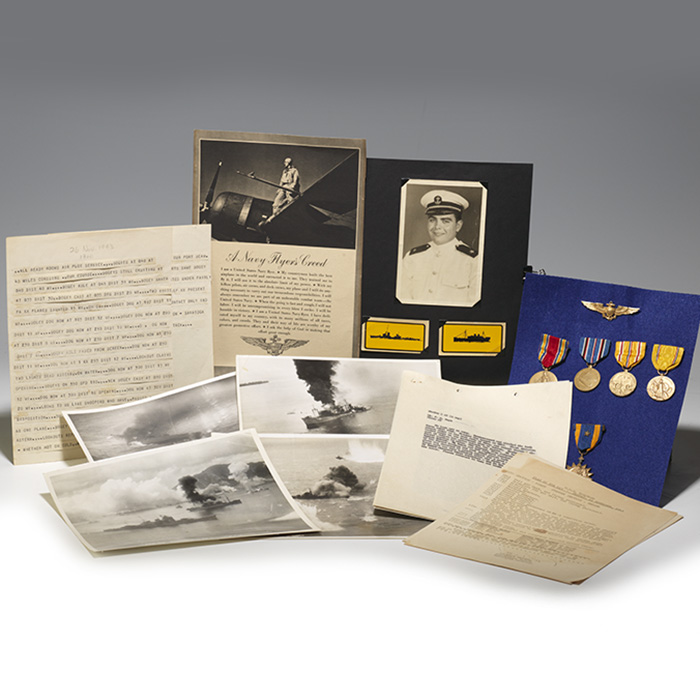 Archive: World War II-era reports, photographs, and medals