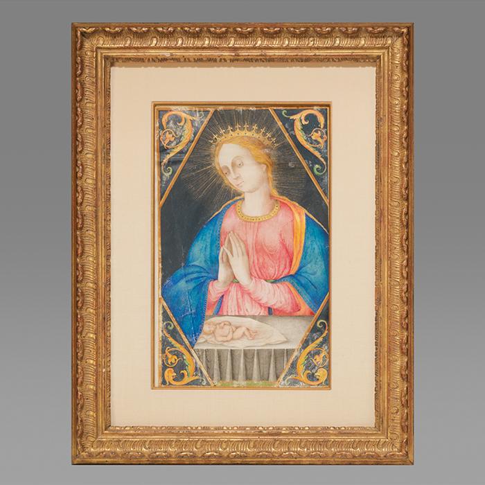 Illuminated Painting of the Virgin Mary