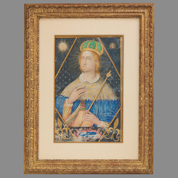 Illuminated Painting of Saint Louis