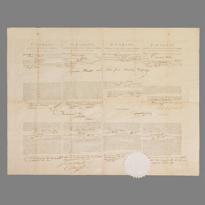 Document Signed [Ship's Papers]