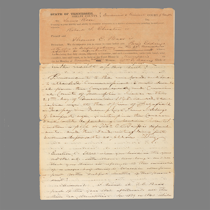 Manuscript legal document
