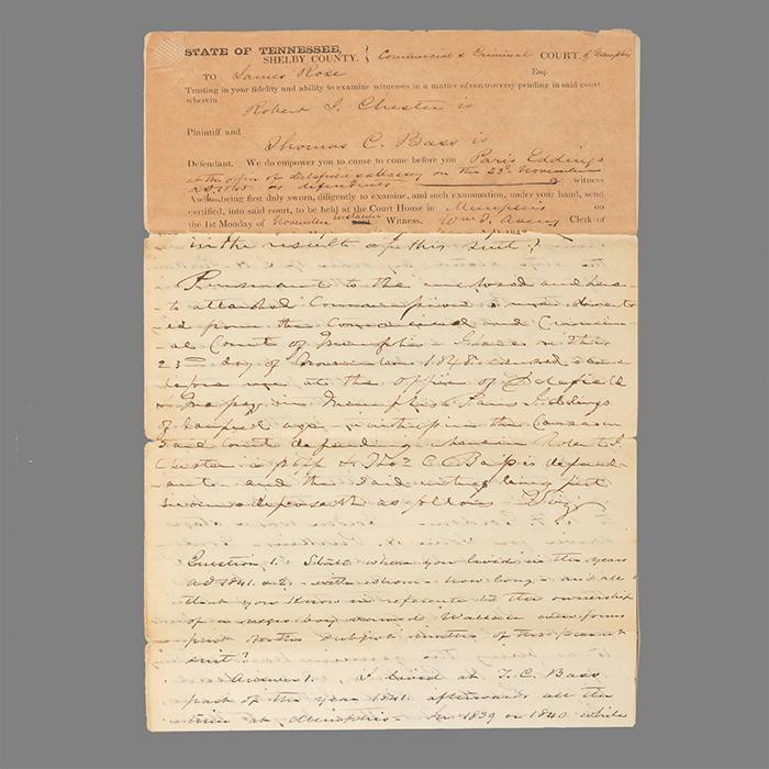 Manuscript legal document