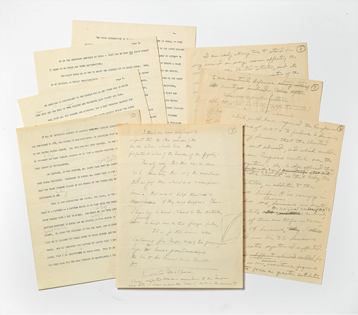 Autograph and Typed Manuscript Campaign Speech