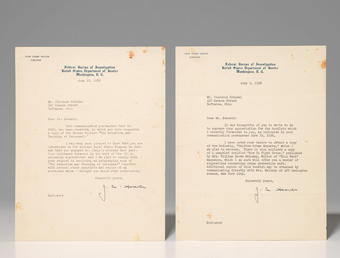 Two typed letters signed