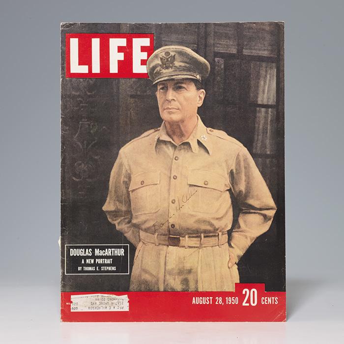 Magazine cover signed