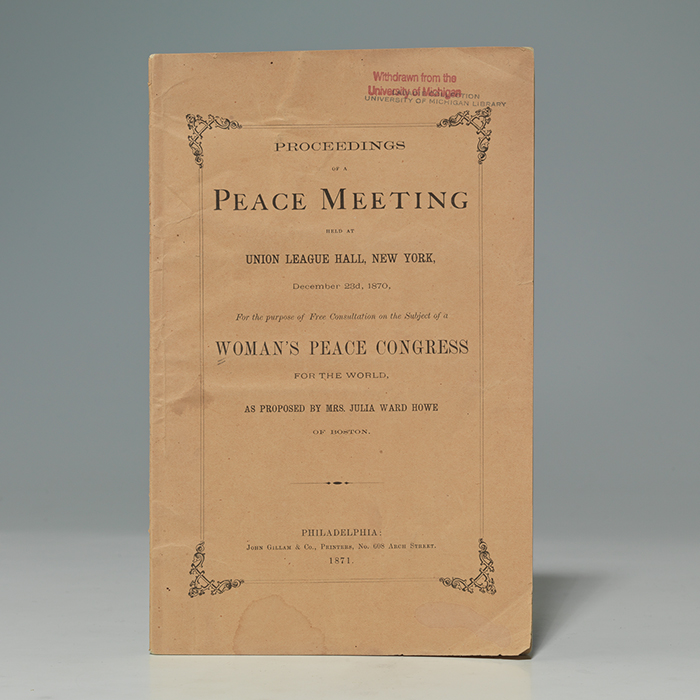 Proceedings of a Peace Meeting