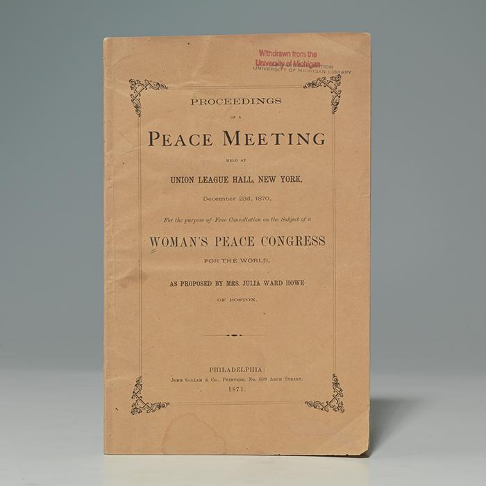 Proceedings of a Peace Meeting