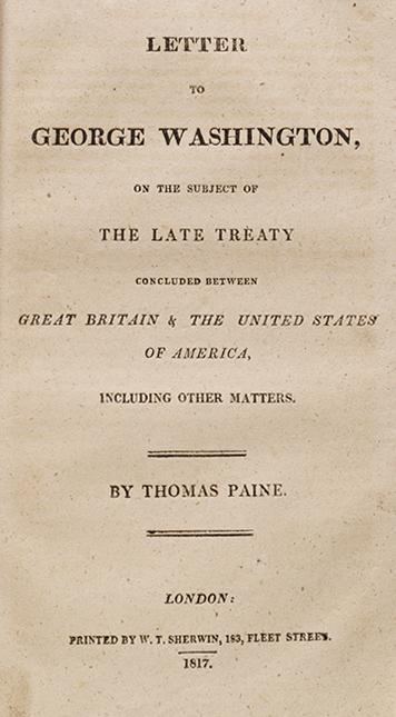 Letter to George Washington
