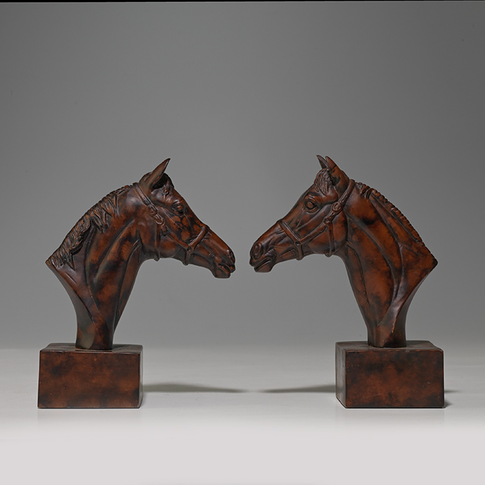 Bookends—Horse Heads
