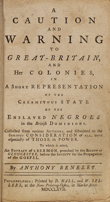 Caution and Warning to Great-Britain, and her Colonies