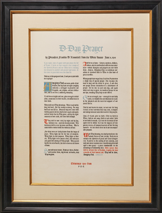 """Lithographic broadside, """"D-Day Prayer"""""""