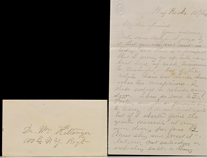 Autograph letter. WITH: Autograph letter signed