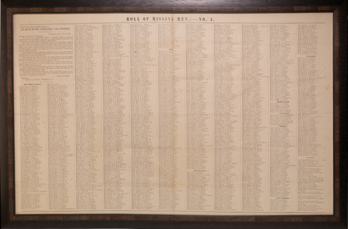 "Broadsheet [""Roll of Missing Men.----No. 4.""]"