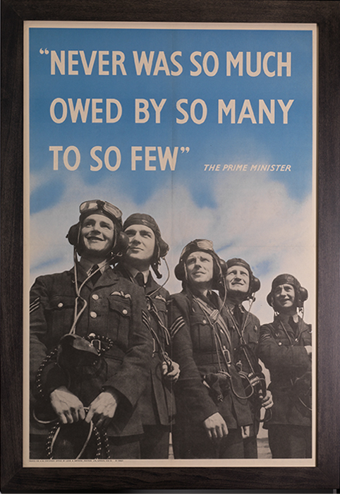 Poster: Never Was So Much Owed by So Many to So Few