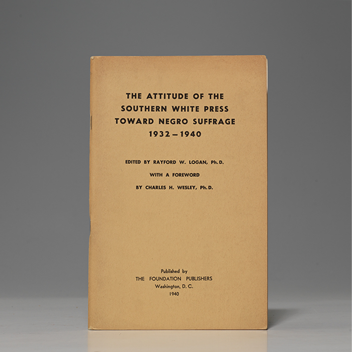 Attitude of the Southern White Press Toward Negro Suffrage 1932-1940