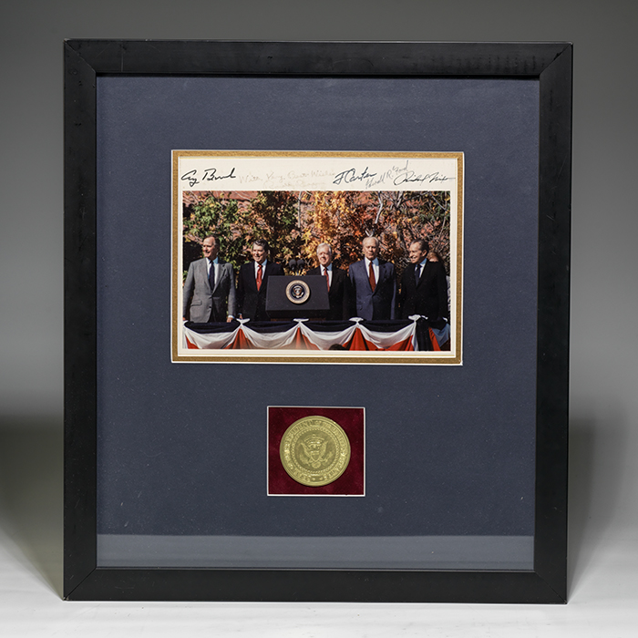 Photograph signed by 5 presidents