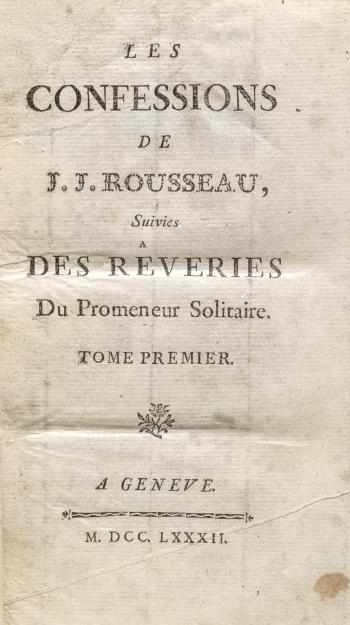 Les Confessions of Jean-Jacques Rousseau