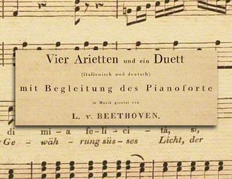 Vier Arietten und ein Duett (Four Ariettas and a Duet)