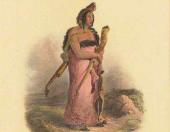 Mexkemahuastan. Chief of the Gros-Ventres des Prairies