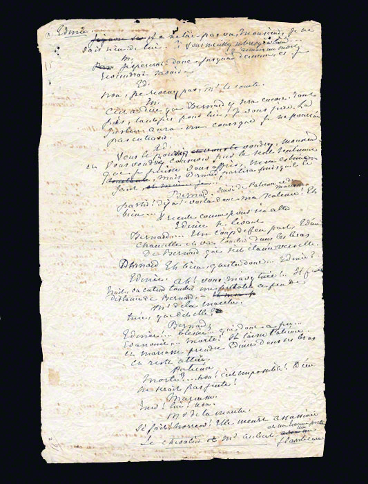 Manuscript Page from George Sand's Mauprat