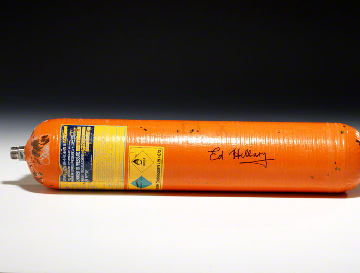 Oxygen canister signed