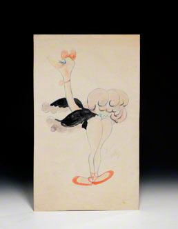 Drawing of Mademoiselle Upanova from Fantasia