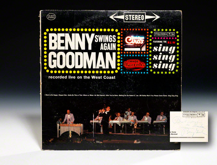Album cover signed: Benny Goodman Swings Again