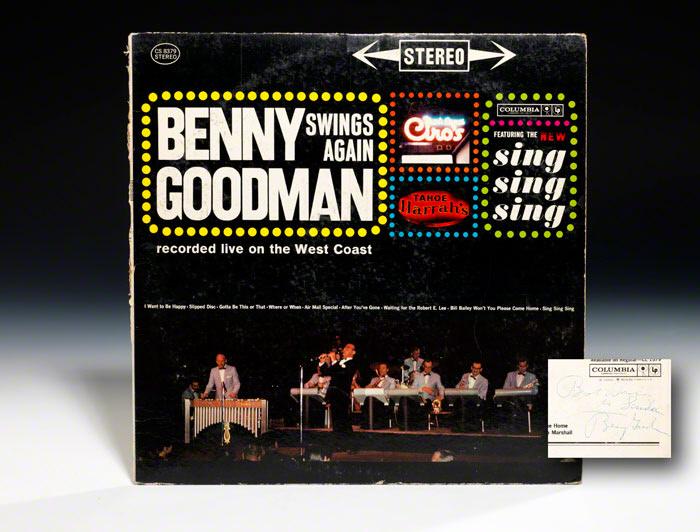 Album cover signed: Benny Goodman Swings Again