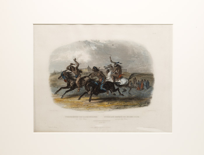 Horse Racing of Sioux Indians near Fort Pierre