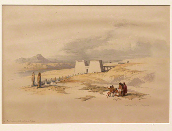 Approach to the Temple of Wady Saboua, Nubia