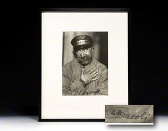Photograph signed. Max Gülstorff.