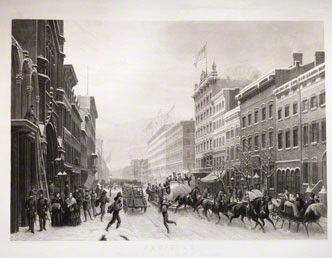 Winter Scene in Broadway / Scène d'Hiver dans Broadway