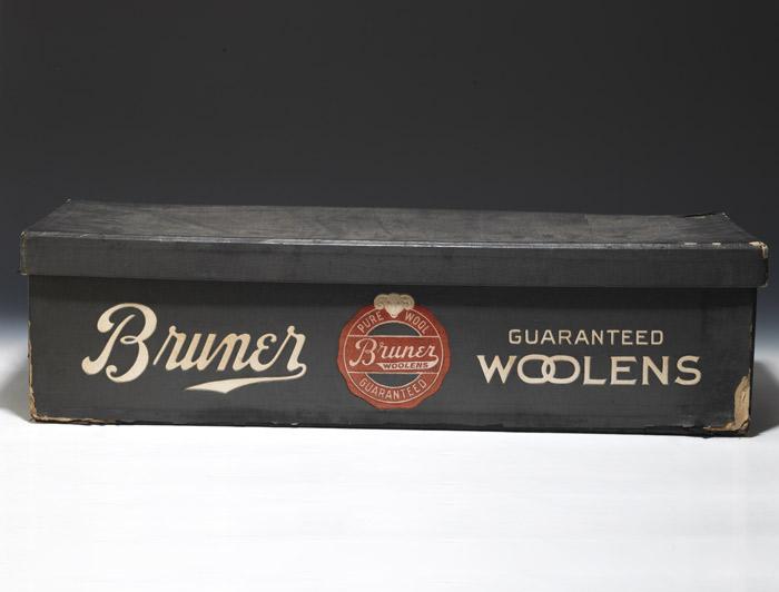 Sample case of woolen swatches