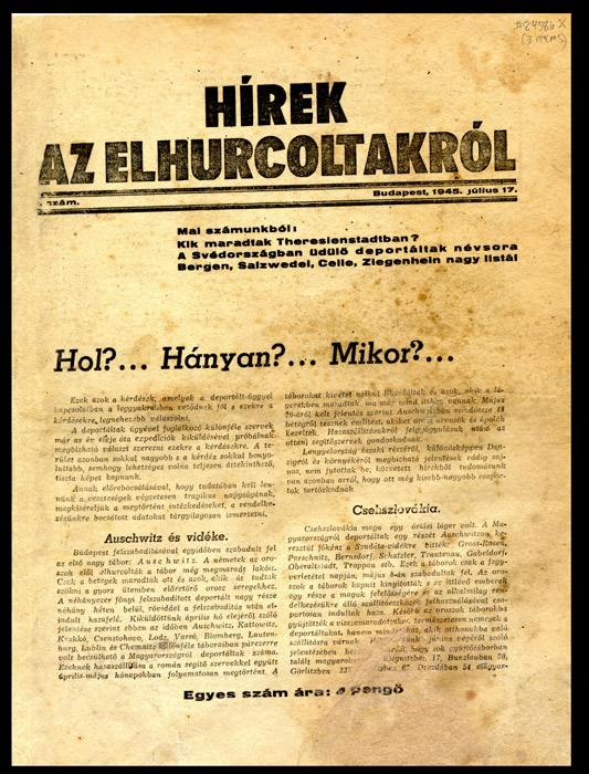 Hirek Az Elhurcoltakrol