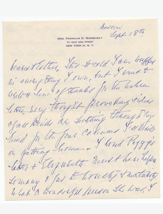 Autograph letter initialed
