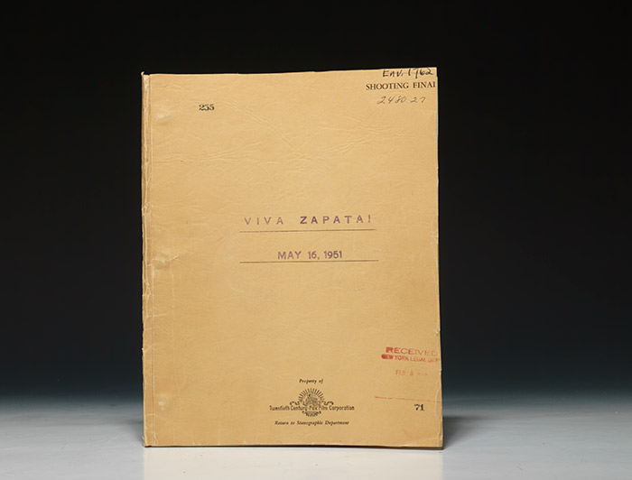 Autograph letter signed. With Viva Zapata Screenplay