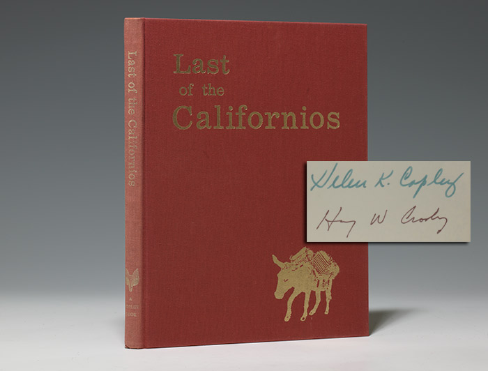 Autograph letter signed WITH: Last of the Californios
