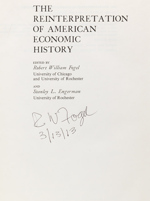 Reinterpretation of American Economic History
