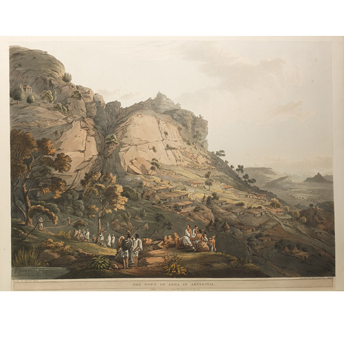 Town of Abha in Abyssinia. FROM: Twenty-Four Views Taken in St. Helena, the Cape, India
