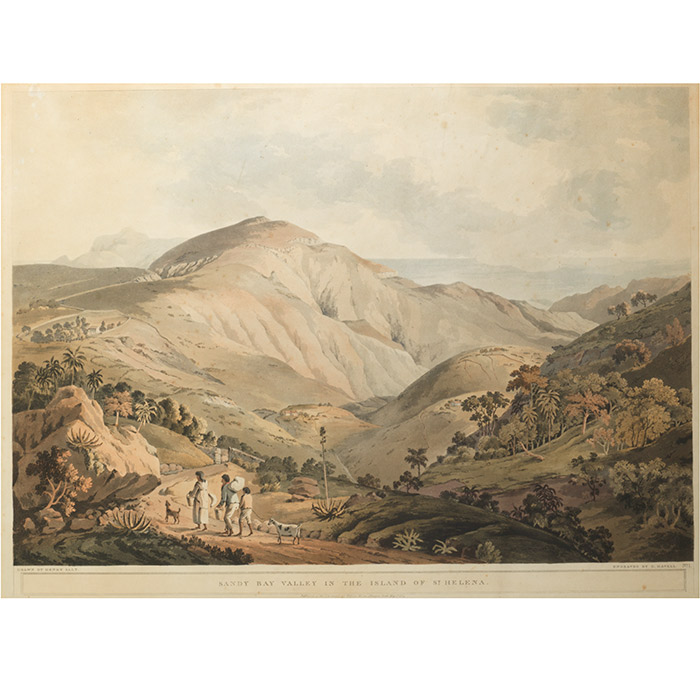 Sandy Bay Valley in the Island of St. Helena. FROM: Twenty-Four Views Taken in St. Helena, the Cape, India