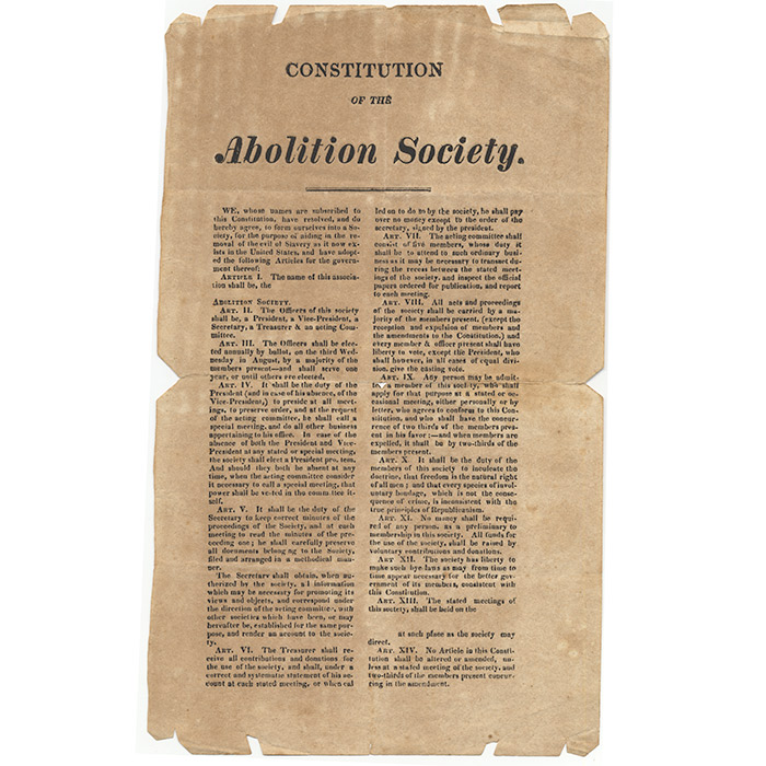 Constitution of the Abolition Society