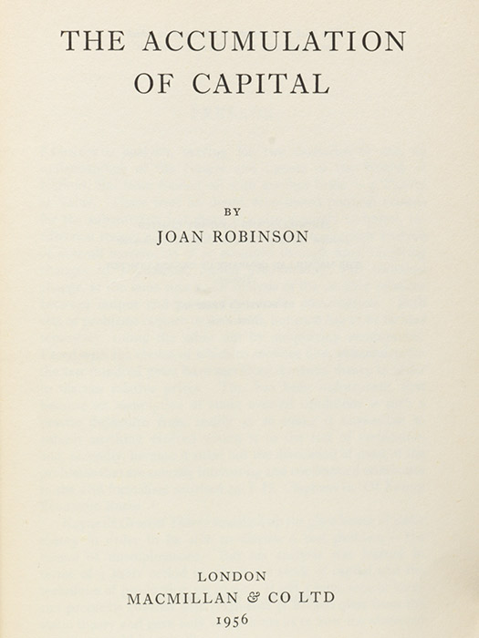 Accumulation of Capital