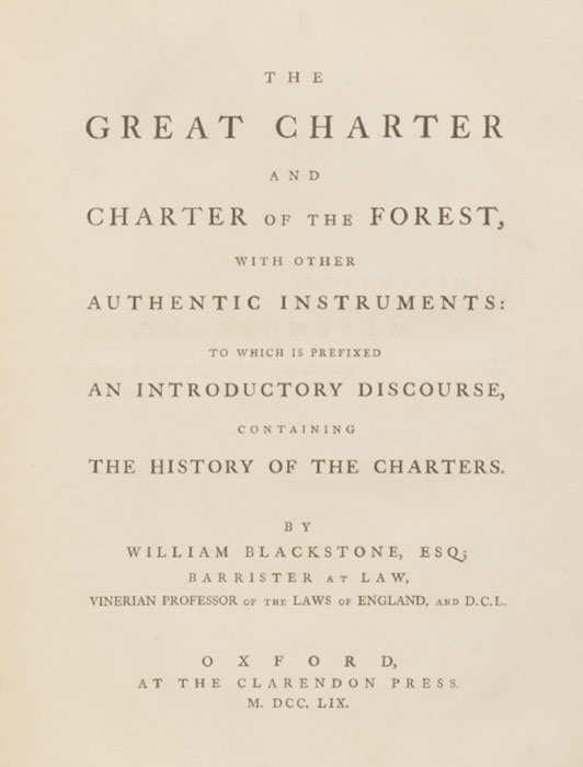 Great Charter and Charter of the Forest
