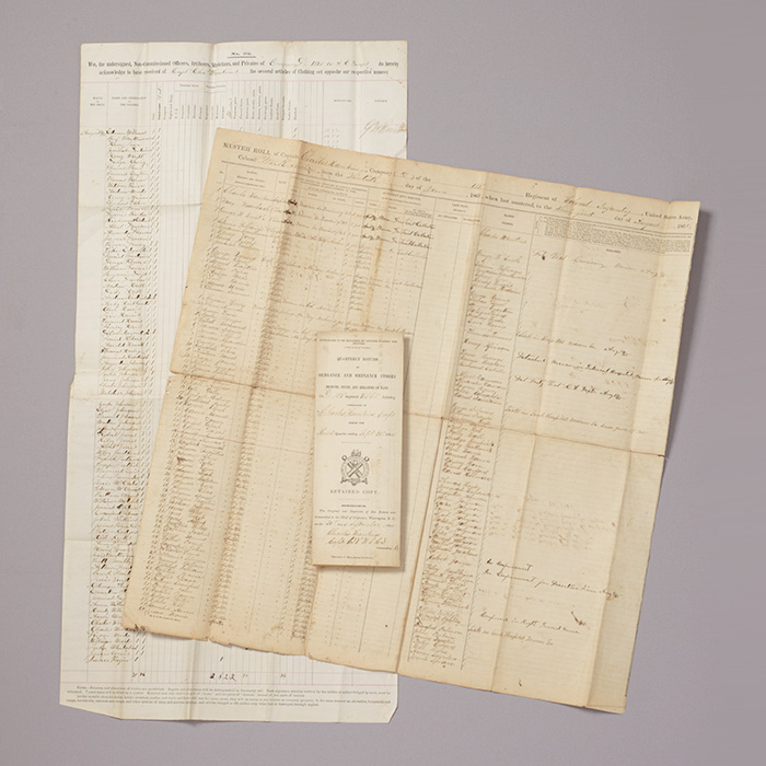 Archive related to the 137th United States Colored Infantry Regiment, including muster roll