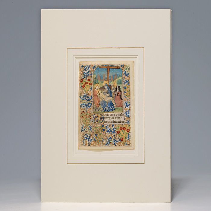 Illuminated Leaf from a Book of Hours